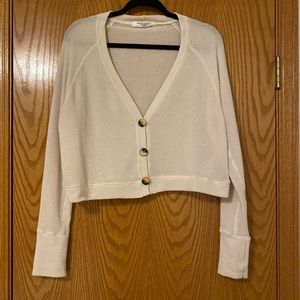 Project Social T Cropped Button Front Sweater